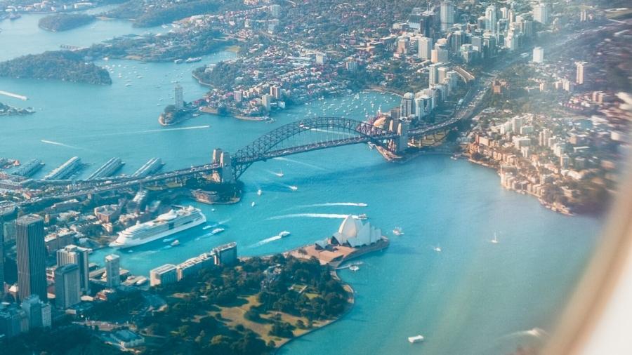 Foto vliegtuig Sydney reizen en innoveren